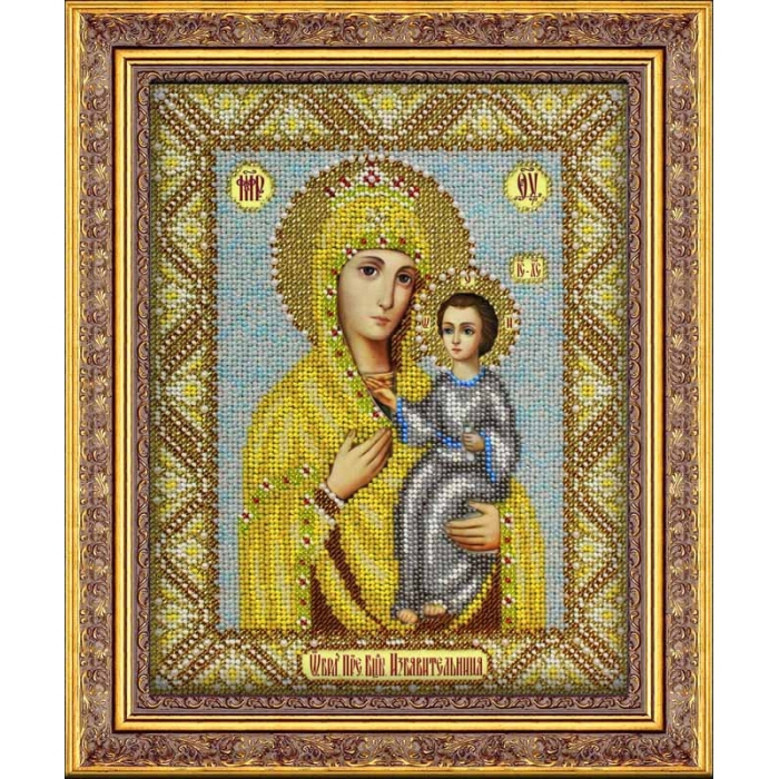 Набор для вышивания бисером ПАУТИНКА арт.Б-1027 Богородица Избавительница 20х25 см