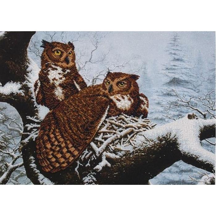Набор для вышивания бисером МАГИЯ КАНВЫ арт.Б020 Семейное гнездо 50,5х36,5 см