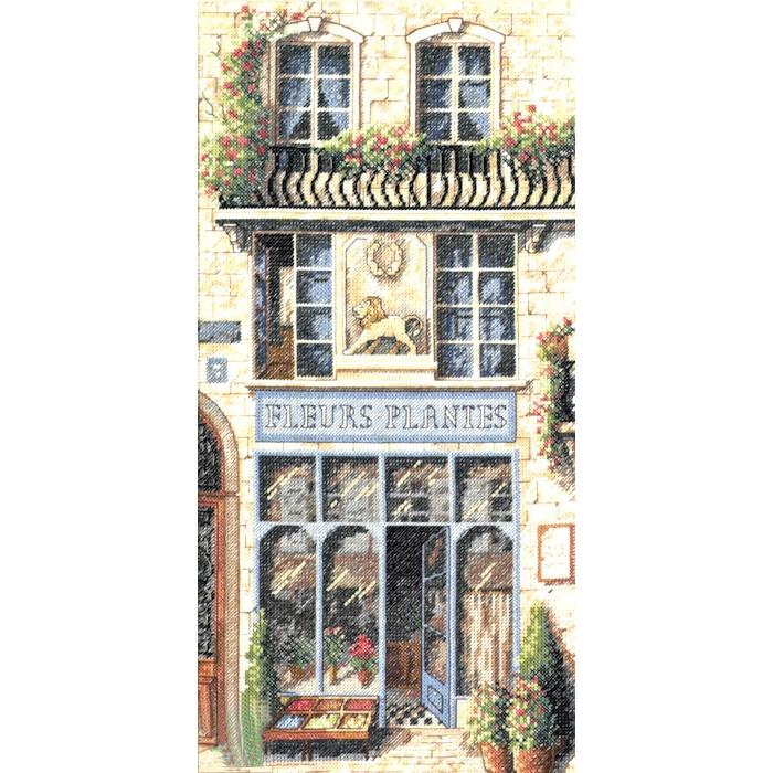 """Набор для вышивания Classic Design арт.4332 """"Цветочный магазин"""" 20х41 см"""