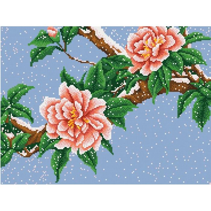 Рисунок на канве КОНЁК арт. 7805 Цветы под снегом 29х39 см