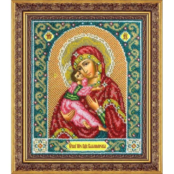 Набор для вышивания бисером ПАУТИНКА арт.Б-1014 Богородица Владимирская 19,5х23 см
