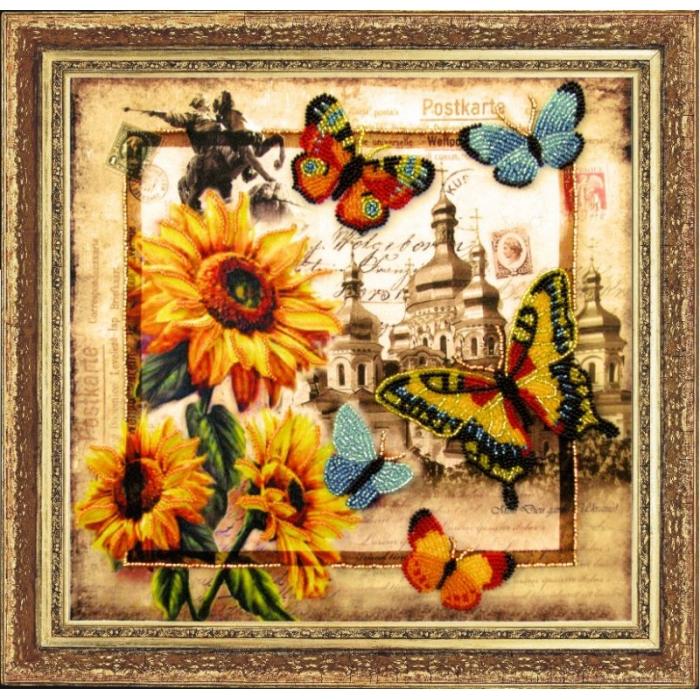 Набор для вышивания BUTTERFLY арт. 114 Привет из Украины 26х27 см