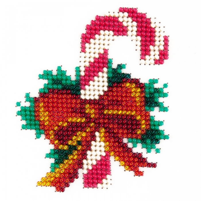 Набор для вышивания бисером LOUISE арт. L410 Рождество 11х11 см