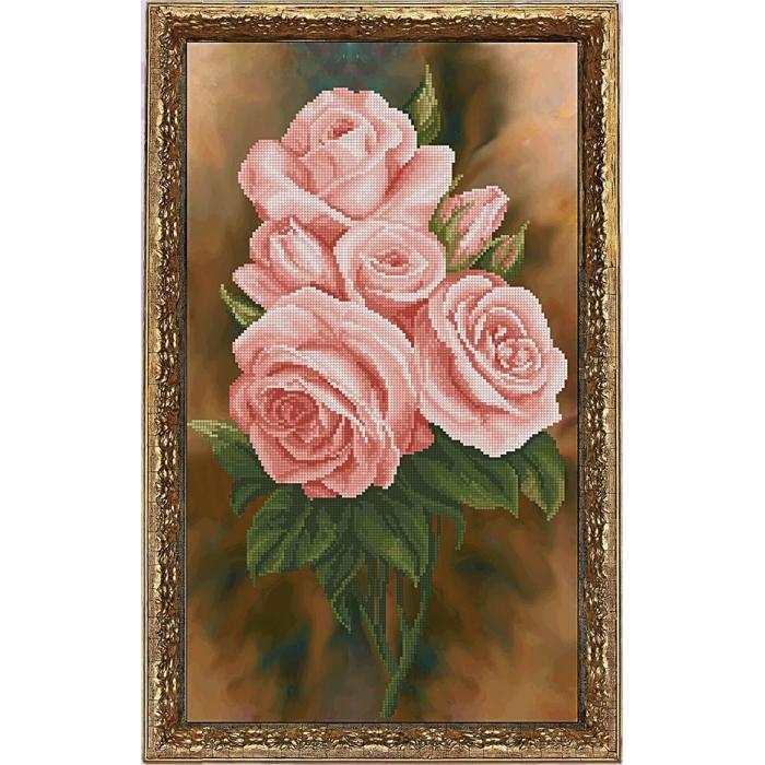 Набор для вышивания мулине КРАСА И ТВОРЧЕСТВО арт.40516 Королева цветов 2 25,5 х 44,4 см