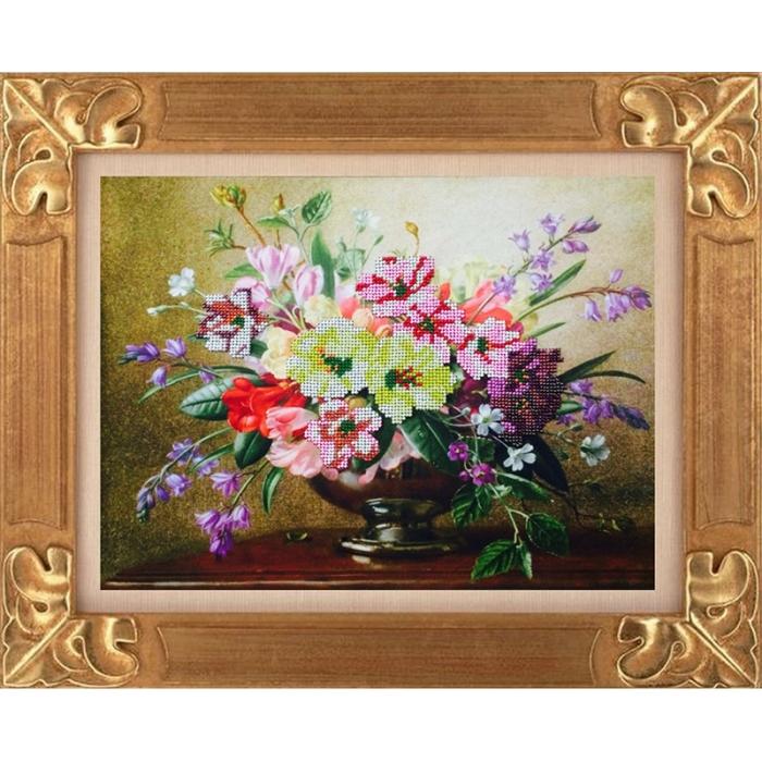 Набор для вышивания бисером ИМПЕРИЯ БИСЕРА арт.ИБК-100 Полевые цветы 38х28 см