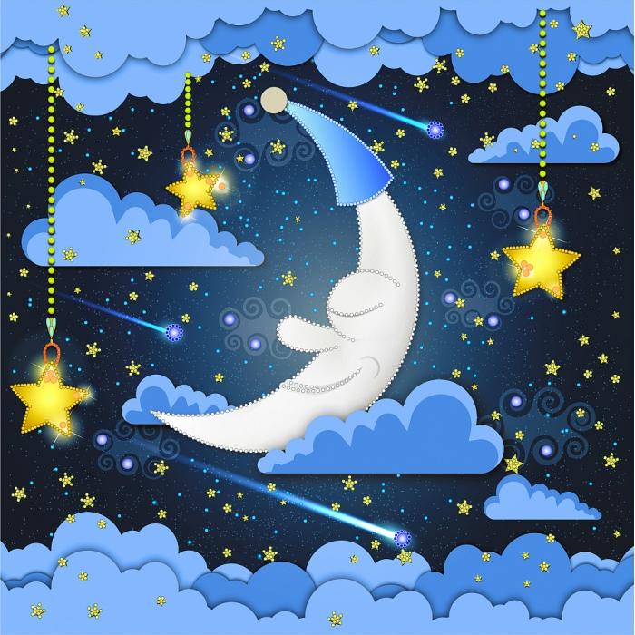 Набор для вышивания бисером МАТРЕНИН ПОСАД арт.41х41 - 0179/Б Спокойной ночи
