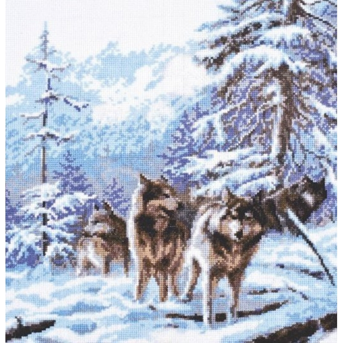 Набор для вышивания ПАЛИТРА арт.03.006 Морозное утро 26х27 см