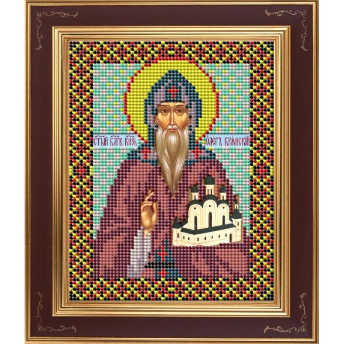 Набор для вышивания бисером GALLA COLLECTION арт.М 234 Св. Олег 12х15 см