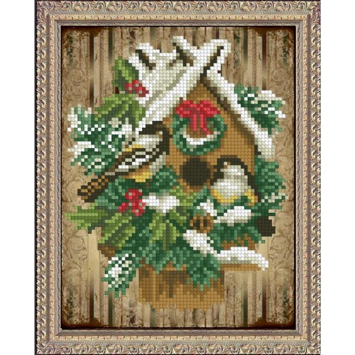 Набор для вышивания мулине КРАСА И ТВОРЧЕСТВО арт.40915 Волшебство рождества 12,9х16,7 см