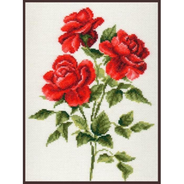 Набор для вышивания ПАЛИТРА арт.01.009 Три розы 20х27 см