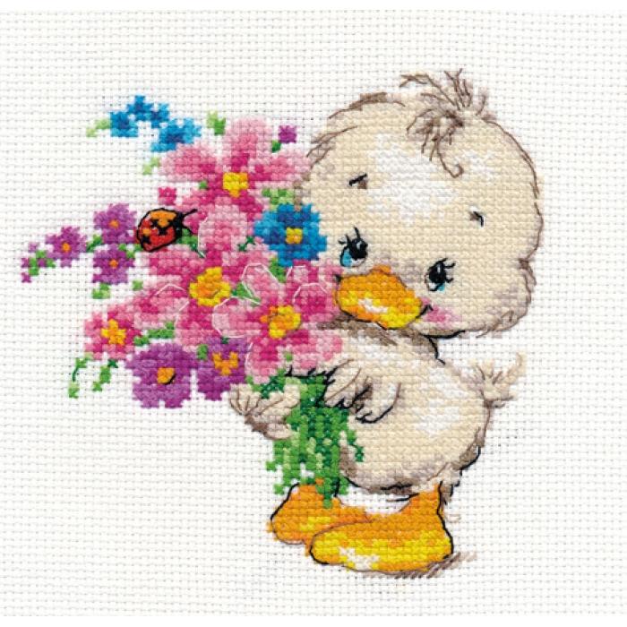 Набор для вышивания АЛИСА арт.0-130 Желаю счастья 12х12 см