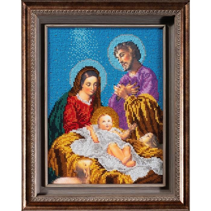 Набор для вышивания бисером КРОШЕ арт. В-189 Рождество 19х27 см