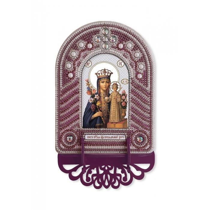 Набор для вышивания бисером НОВА СЛОБОДА арт.ВК1009 Богородица Неувядаемый цвет 10х13 см