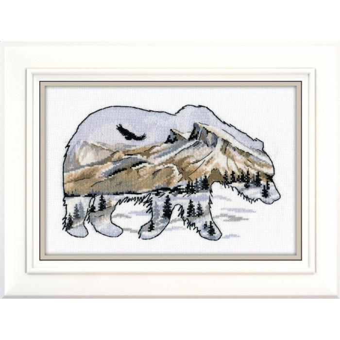 Набор для вышивания ОВЕН арт. 1052 Мир животных. Медведь 27х17 см