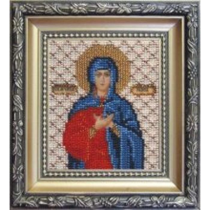 Набор для вышивания бисером ЧАРИВНА МИТЬ арт.Б-1072 Икона святой мученицы Раисы 9х11 см