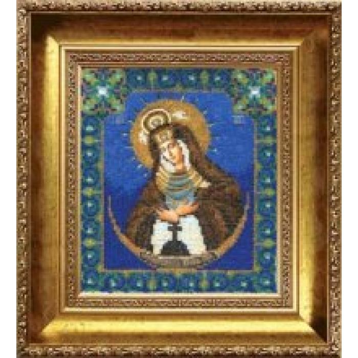 Набор для вышивания бисером ЧАРИВНА МИТЬ арт.Б-1013 Божья Матерь Остробрамская 18х20,5 см