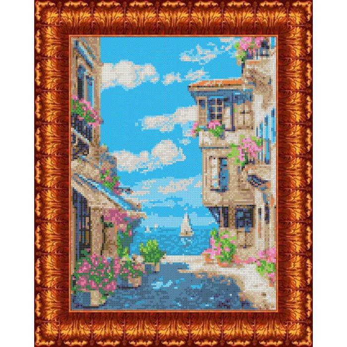 Канва с нанесенным рисунком КАРОЛИНКА арт. КК-031 У моря 23х30 см
