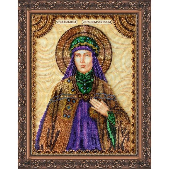 Набор для вышивания бисером АБРИС АРТ арт. AA-078 Святая Ангелина 23х30 см