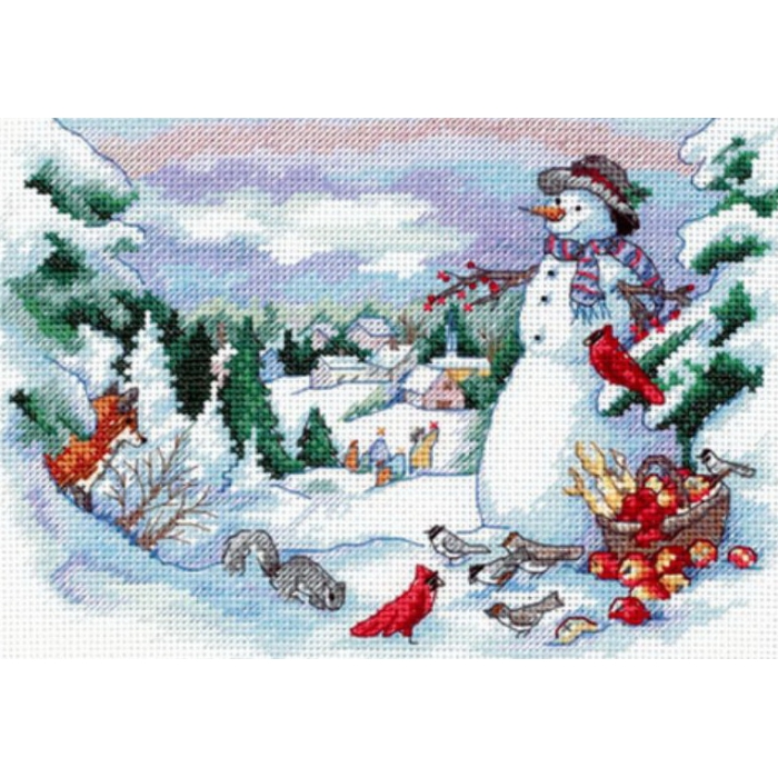 """Набор для вышивания Classic Design арт.4376 """"Друзья снеговика"""" 20х14 см"""