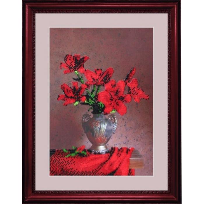 Набор для вышивания BUTTERFLY арт. 201 Бархатный букет 33х23 см