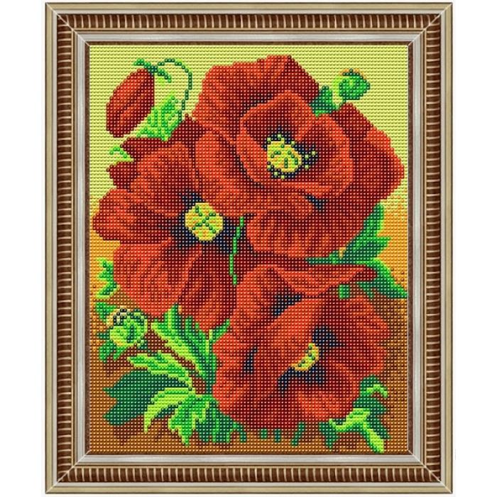 Набор для вышивания бисером СЛАВЯНОЧКА арт. НКС-4002 Красна краса 20х25 см