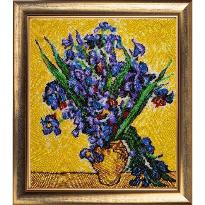 Набор для вышивания BUTTERFLY арт. 151 Ирисы по мотивам картины В. Ван Гога 32х28 см