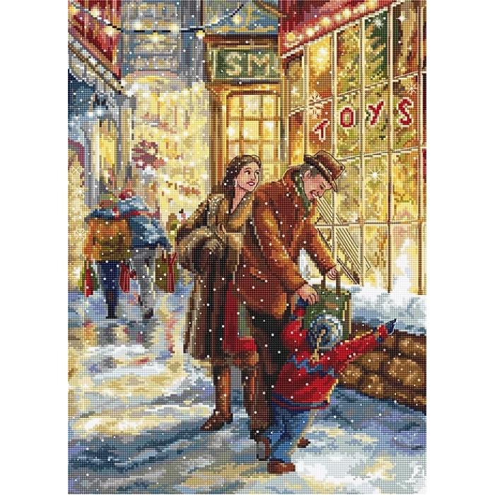 Набор для вышивания LETI арт. 943 Ожидание рождества 37х27 см