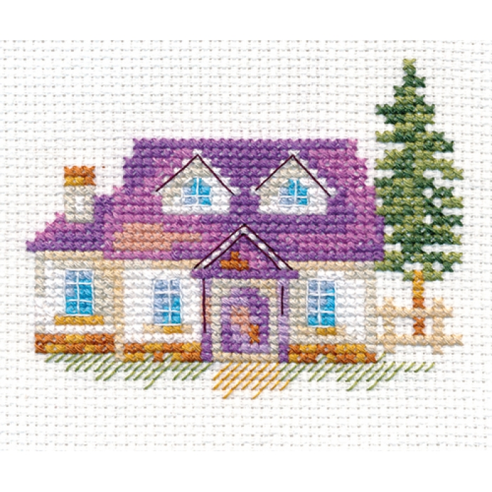 Набор для вышивания АЛИСА арт.0-153 Домик на опушке 8х7 см