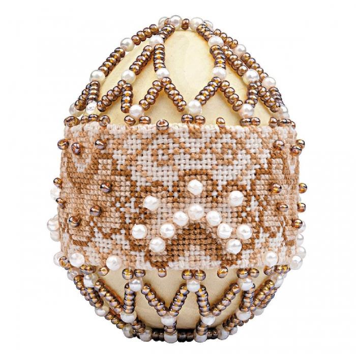 Набор для бисероплетения РИОЛИС арт.В214 Яйцо пасхальное Капучино 6,5х5 см