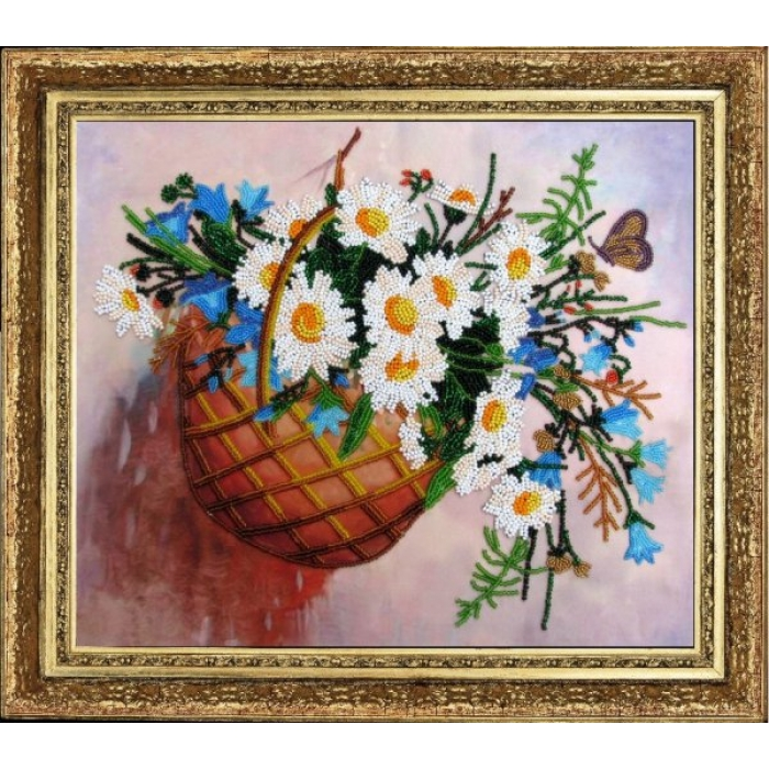 Набор для вышивания BUTTERFLY арт. 212 Корзина с цветами 26х30 см