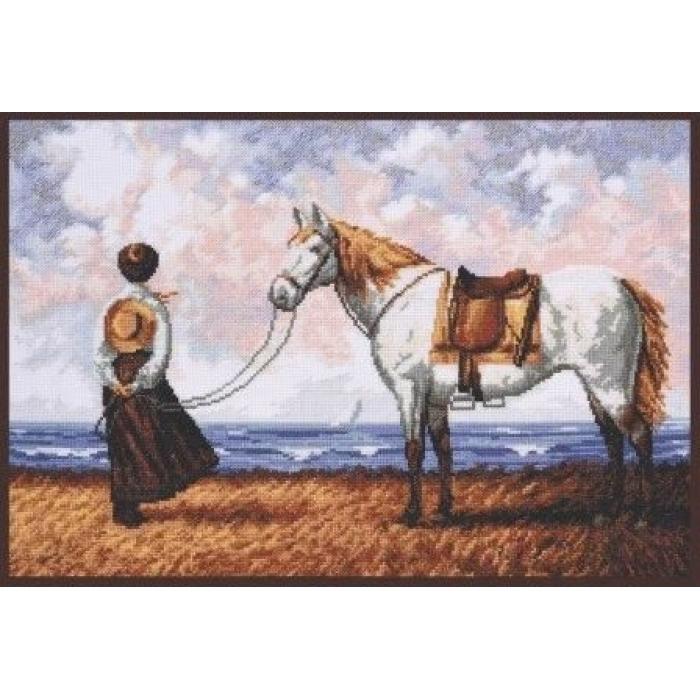 Набор для вышивания ПАЛИТРА арт.07.014 Морской бриз 40х27 см