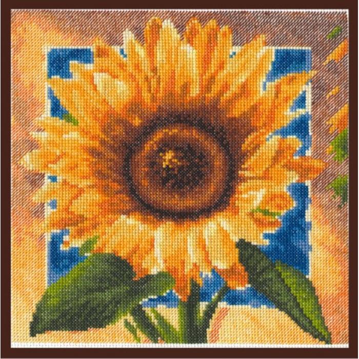 Набор для вышивания ПАЛИТРА арт.01.006 Золотые лепестки 20х20 см