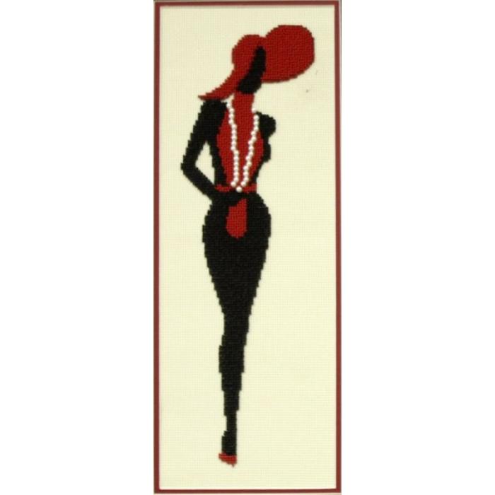 Набор для частичного вышивания бисером ИМПЕРИЯ БИСЕРА арт.ИБ-130 Мадам Шарнель 13х36 см