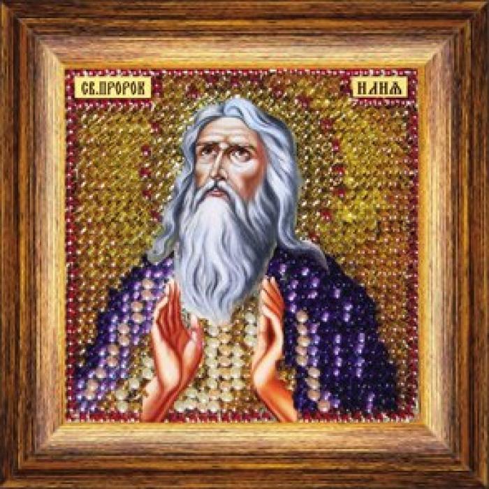 Набор для вышивания ВЫШИВАЛЬНАЯ МОЗАИКА арт. 129ПМИ Святой Пророк Илия 6,5х6,5см
