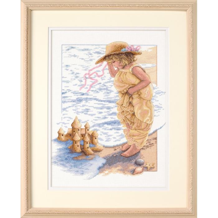 Набор для вышивания DIMENSIONS арт.DMS-13730 Замки из песка 28х36 см