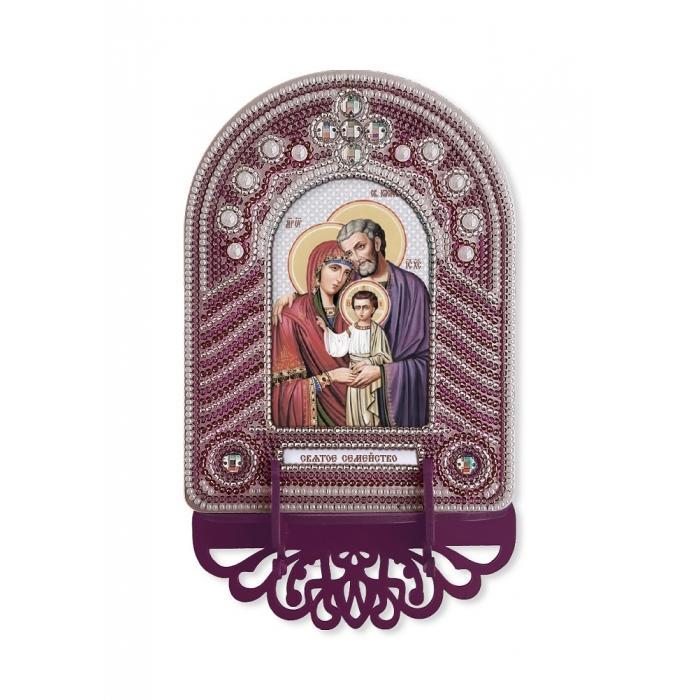 Набор для вышивания бисером НОВА СЛОБОДА арт.ВК1010 Святое семейство 10х13 см