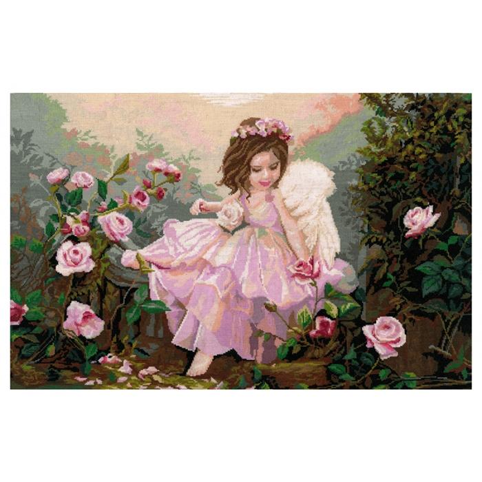 Набор для вышивания мулине НИТЕКС арт.0118 Ангел 59х36 см