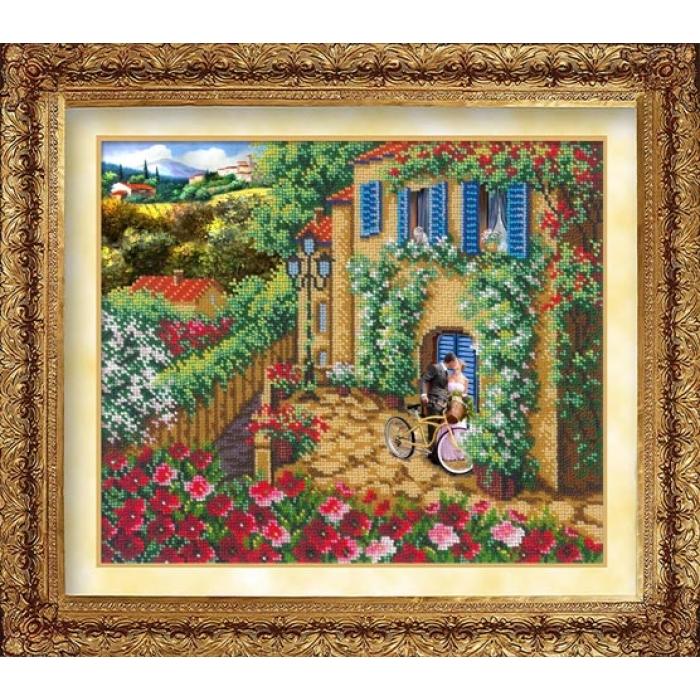 Набор для вышивания бисером РУССКАЯ ИСКУСНИЦА арт.1013 Счастливы вместе 31х26 см