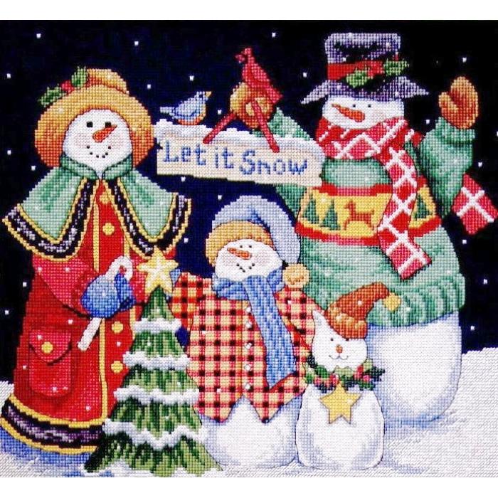 """Набор для вышивания Classic Design арт.4380 """"Пусть идет снег"""" 30х27 см"""