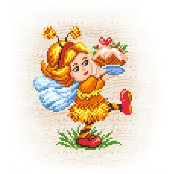 Набор для вышивания бисер-нитки МАТРЕНИН ПОСАД арт.28х34 - 0115/Б Пчелкино угощение