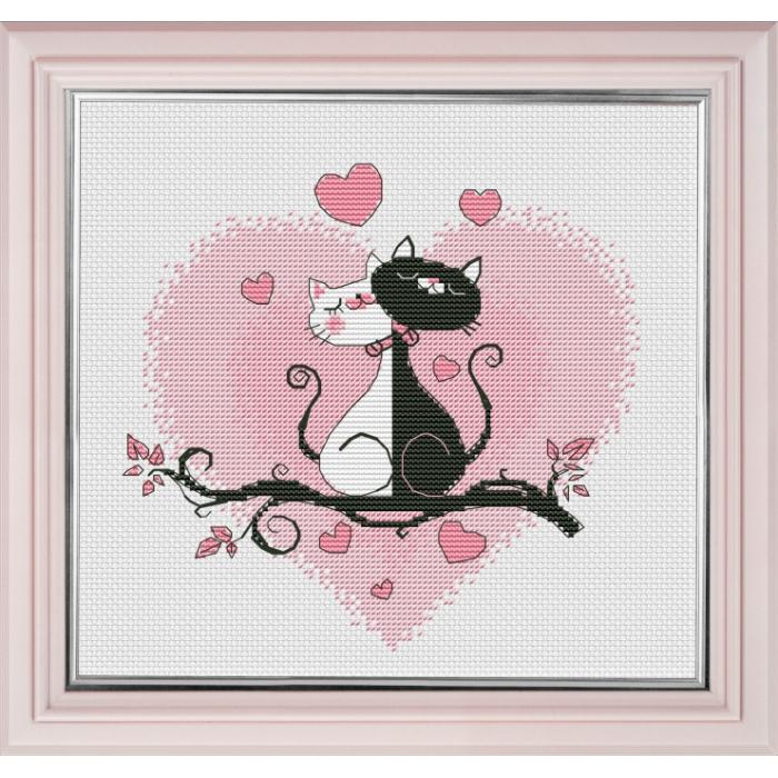 Набор для вышивания ОВЕН арт. 1021 Это любовь 16х15 см