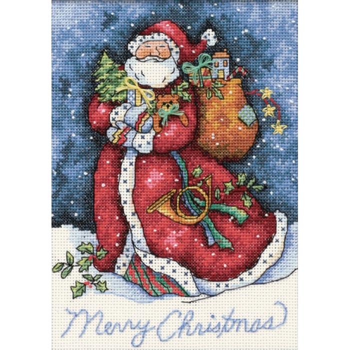 Набор для вышивания DIMENSIONS арт.DMS-08825 Счастливого Рождества,Санта! 13х18 см