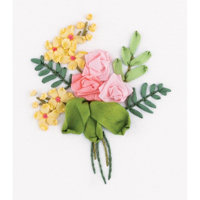"""Набор для вышивания PANNA """"Живая картина"""" арт. JK-2141 Букетик роз 8х6,5 см"""