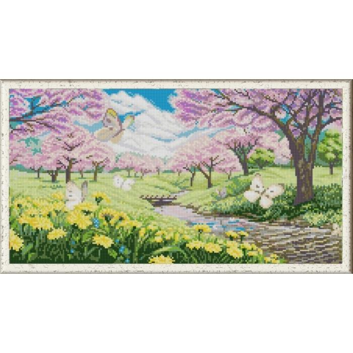 Рисунок на ткани (Бисер) КОНЁК арт. 1277 Весна пришла 25х45 см
