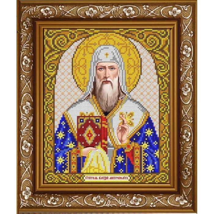 Рисунок на габардине СЛАВЯНОЧКА арт. ИС-4076 Святой Алексий 20х25 см