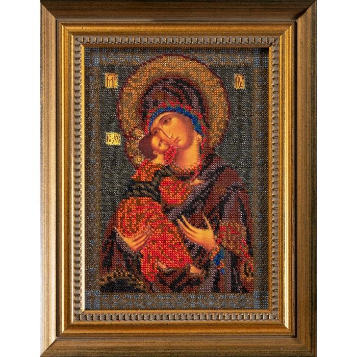 Набор для вышивания бисером КРОШЕ арт. В-147 Владимирская Богородица 18x25 см