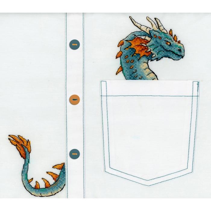 Набор для вышивания ЖАР-ПТИЦА арт.В-252 Благородный дракон 7х8 см
