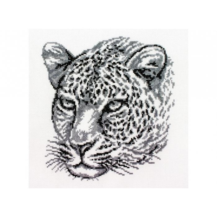 Набор для вышивания нитками БЕЛОСНЕЖКА арт.БЛ.186-14 Леопард 20х21,5см