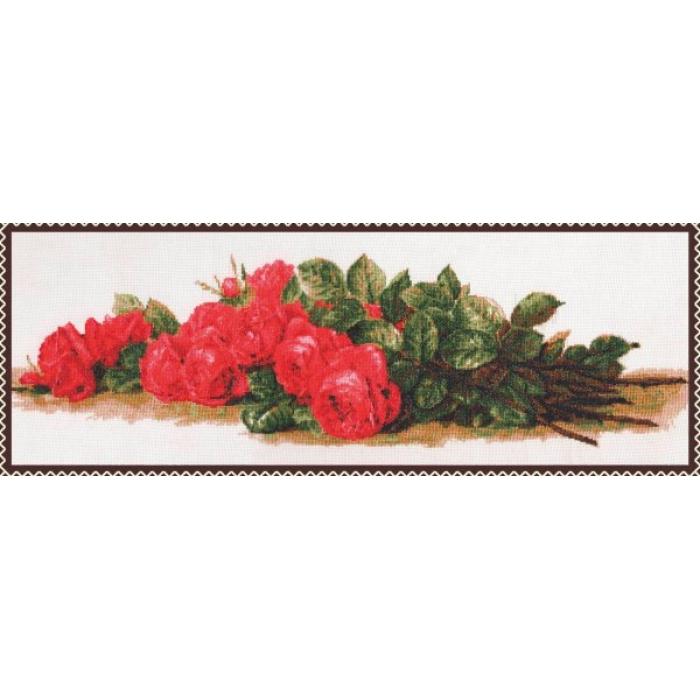 Набор для вышивания ПАЛИТРА арт.01.007 Розы на столе 59х20 см