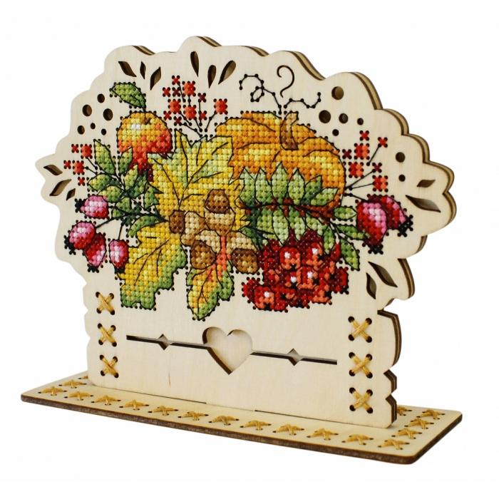 Набор для вышивания Щепка арт.О-019 Осенний Букет 13х16 см